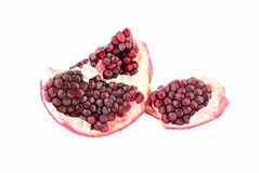 Open fruit of pomegranate Stock Images