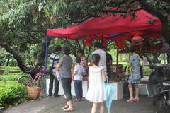 Open fruit stand in SHENZHEN ASIA Royalty Free Stock Photo