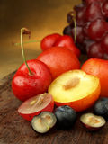 Open fruit still life Royalty Free Stock Image