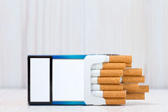 Open full pack of cigarettes Stock Photo