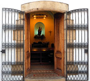Open gate Stock Photo