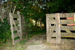 Open gate Royalty Free Stock Photo