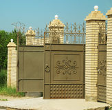 Open gate of the house, privacy Stock Photo