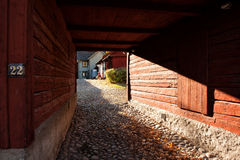 Open gate in idyllic Wadkoping Royalty Free Stock Photo