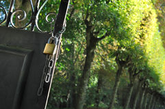 Open gate stock images