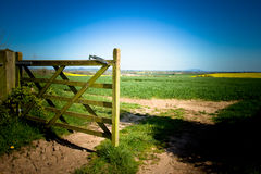 Open gate of Shropshire fields Julian Bound Royalty Free Stock Photos