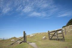Open gate. Stock Photos