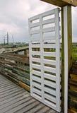 Open gate to boardwalk Stock Image