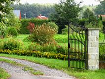 Open gate Royalty Free Stock Photography