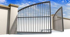 Open Gates And Wall Stock Photos