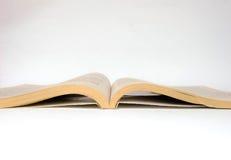 Open geïsoleerd boek Royalty-vrije Stock Fotografie