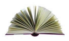 Open geïsoleerd boek Royalty-vrije Stock Afbeeldingen