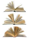 Open geïsoleerdeo boeken stock afbeelding