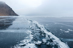 Open gebarsten ijs Stock Foto's