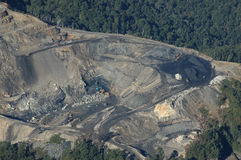 Open - gegoten kolenmijn stock fotografie