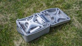 Open geval met quadrocoptersdji Spoor 4 stock foto