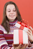 Open a gift Stock Photography