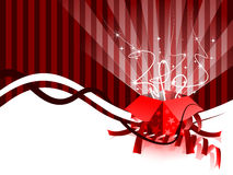 Open gift box. With huge text place for your greeting message Stock Photos