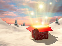 Open gift box Royalty Free Stock Photo