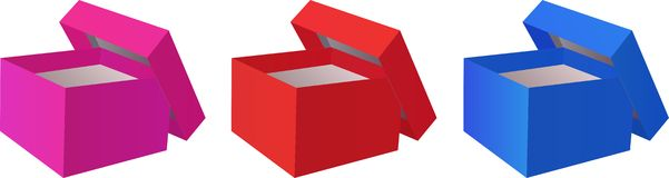 Open gift box Royalty Free Stock Photography