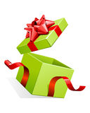 Open gift box with bow Stock Image