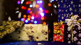 Open gift box stock footage