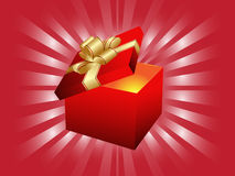 Open Gift Box Stock Image