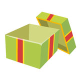 Open gift box isolated illustration Royalty Free Stock Image