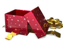 Open gift box red Stock Image