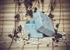 Open gift box Royalty Free Stock Photos