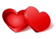 Open gift heart Stock Photos