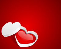 Open gift heart. Valentine's day background Stock Images