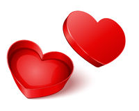 Open gift heart Stock Images