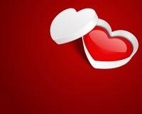 Open gift heart Stock Image