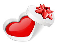 Open gift heart with red heart Royalty Free Stock Photo