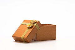 Open gift package Stock Images