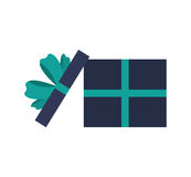 Open giftbox present isolated icon. Vector illustration design Royalty Free Stock Photos
