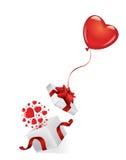 Open giftdoos door hartballon Royalty-vrije Stock Fotografie