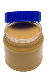Open Glass Of Peanut Butter W/ Path Stock Photography