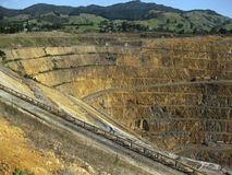 Open gold and silver mine Royalty Free Stock Photo