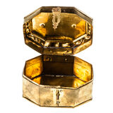 Open golden chest Royalty Free Stock Image