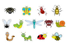 Vector cartoon-style mini beasts illustration Royalty Free Stock Images