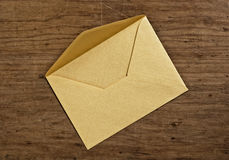 Open golden envelope. Royalty Free Stock Images