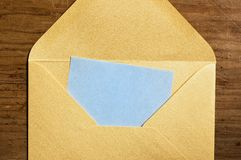 Open golden envelope. royalty free stock photo