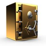 Open gouden brandkast stock illustratie