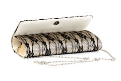 Open Gray Female Clutch And Chain Royalty Free Stock Images