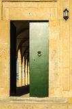 Open green arabic door Royalty Free Stock Photos