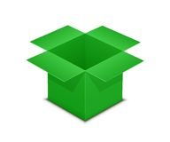 Open green box on white Royalty Free Stock Images