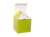 Open green gift box Royalty Free Stock Image