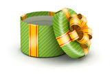Open green gift box Royalty Free Stock Images
